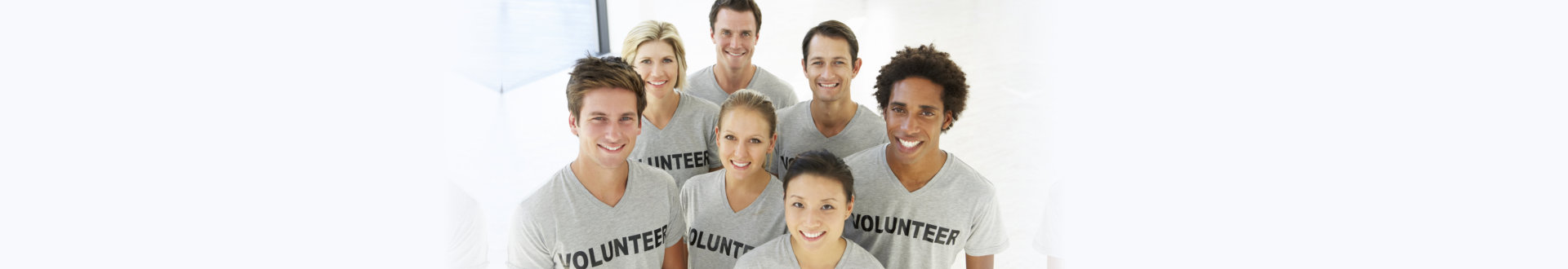 volunteers smiling